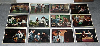 DRAGNET original 1954 color lobby still photos set JACK WEBB/RICHARD BOONE