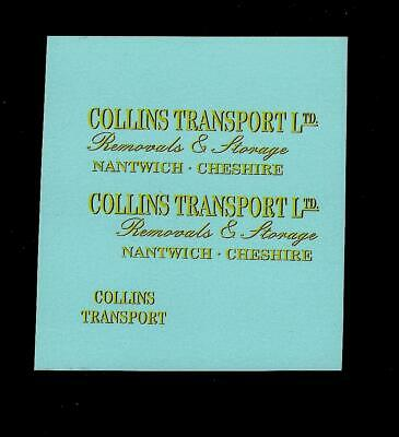 MATCHBOX CUSTOM/CODE 3 TRANSFERS FOR 46b PICKFORDS REMOVAL VAN