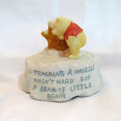 "Willitts CLASSIC WINNIE the POOH Christmas Winter ""WOZZLE"" Music Box XX-RARE!"