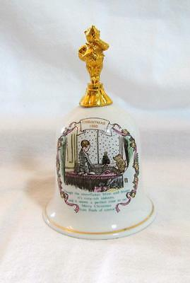Willitts CLASSIC WINNIE the POOH Christmas 1990 Porcelain BELL EUC XX-RARE!