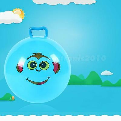 Inflatable Hopping Jumping Ball Bouncer Hopper Handle Kids Outdoor Toy HLRG