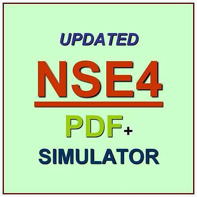 Fortinet Network Security Expert 4 Written 400 Test NSE4 Exam QA PDF+Simulator