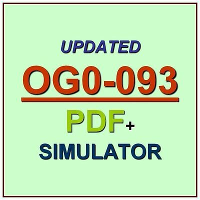 The Open Group TOGAF 9 Combined Part 1 and 2 OG0-093 Exam Test QA PDF+Simulator