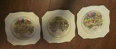 Royal Winton Grimwades Set Of 3 Horse Plates 9 Inches Square