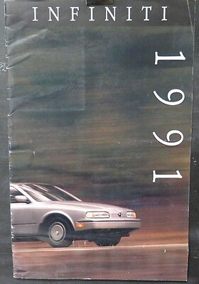 1991 Infiniti M30 Coupe Convertible G20 Q45 Sedan Large Prestige Brochure wv4896