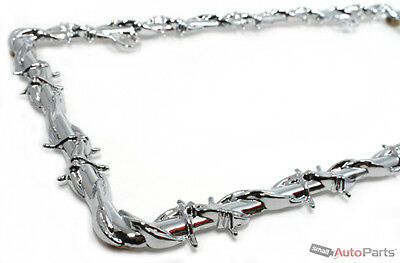 Chrome Barbed Wire Custom Metal License Plate Frame for Auto-Car-Truck-SUV