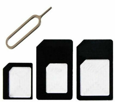 4 In 1 Pack Nano, Micro And Standard Sim Card Adapter For Various Mobile Phones