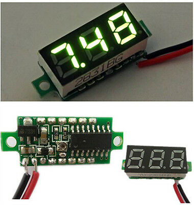 0.28'' DC 2.5V-30V Red Green Mini Digital Voltmeter Voltage Tester Meter Quality
