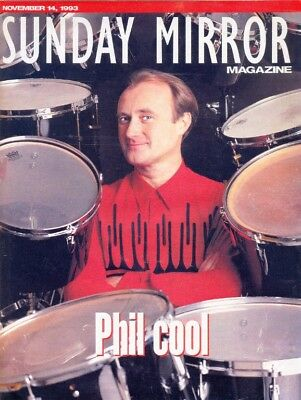 PHIL COLLINS in Sunday Mirror Magazine, 14/9/1993. Cover & Inside. Free UK Post