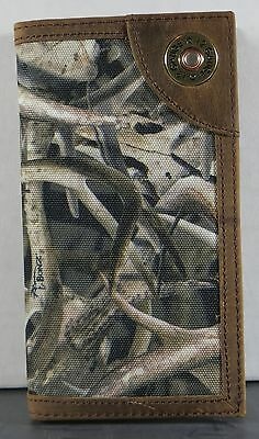 12 Gauge Bonz Camo Ariat Bones Horns Western Wallet Billfold Checkbook