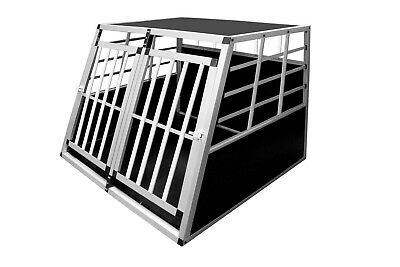 Aluminium Dog Pet Cage Transport Crate Car Travel Carrier Box Dog Kennel Carrier