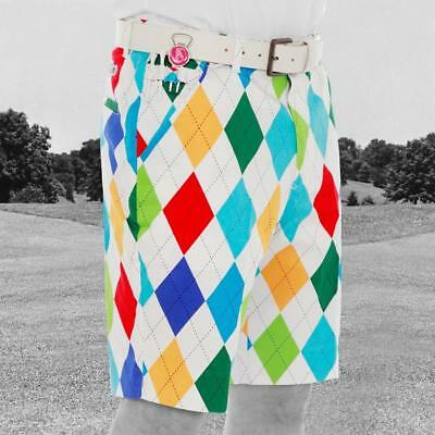 Royal and Awesome Novelty Golf Shorts (King of Diamonds)