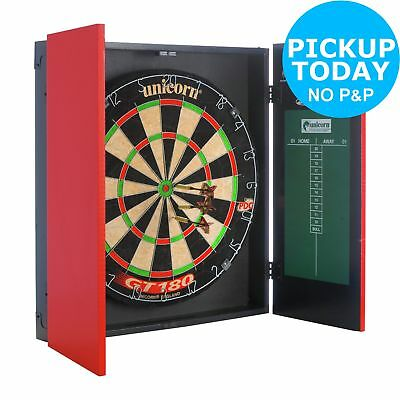 Unicorn Original Dartboard, Cabinet and Darts -From the Argos Shop on ebay