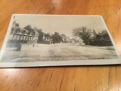 old postcard . Market Cross And High Street Aberlady