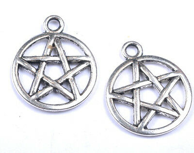 free ship 10pcs Tibetan silver Star pendants findings SH373