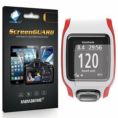 3 New Membrane Brand Screen Protectors Protect for TomTom Multi-Sport GPS-Watch