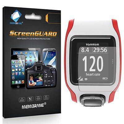 3 Clear Front Anti Scratch Screen Cover for TomTom Multi-Sport GPS Smart Watch