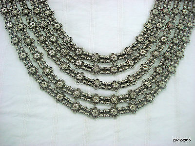 rare vintage antique collectible tribal old silver necklace chain har
