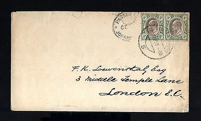 7335-TRANSVAAL-CENSOR COVER JOHANNESBURG to ENGLAND.1902.BRITISH.Southafrica