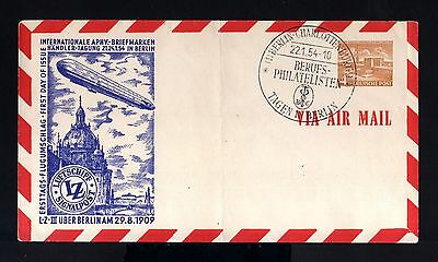 7334-GERMANY-AIRMAIL COVER BERLIN.1954.Luftschiff ZEPPELIN LZ III.Deutschland.