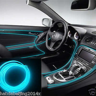 Car ICE BLUE Cold light lamp Neon Lamp EL-Wire Atmosphere Fluorescent Strips