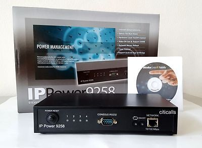 IP9258TP 4 Port Web AC Power Switch Controller Remote Reboot PING w 10FT Cord