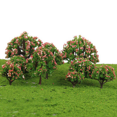 10 Beautiful Flower Tree Model Train Railway Park Architecture Scenery HO OO