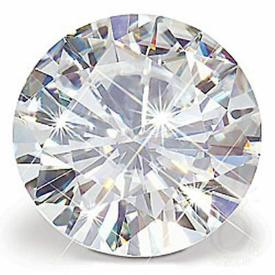 full white G/H color loose moissanite 1.00 ct 6.52 mm  round brilliant cut