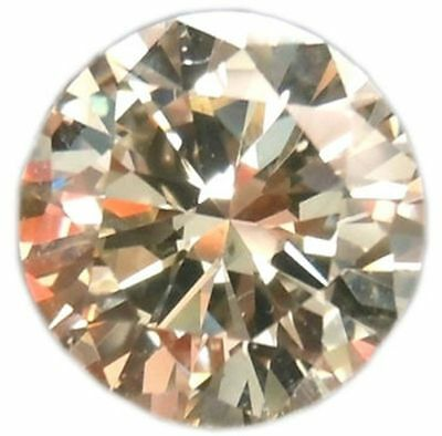 Genuine 1.00 tcw 6.50 mm light brown color loose moissanite round brilliant cut