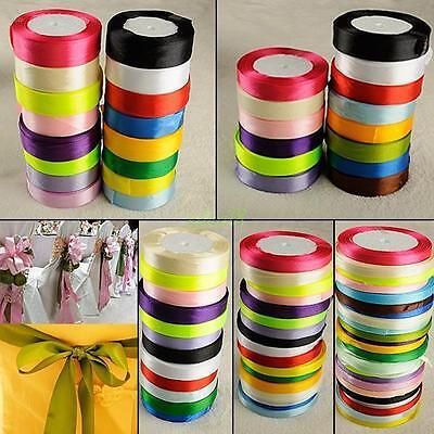 25 yards color satin ribbon for hair bow diy crafts scrapbooks weddings parties