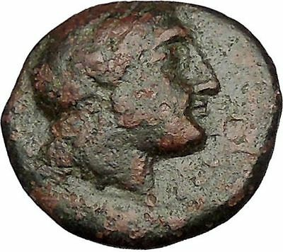 MYRINA in AEOLIS 2-1stCenBC Apollo Amphora Authentic Ancient Greek Coin i51971