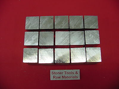 "15 Pieces 1"" X 1"" 6061 SQUARE ALUMINUM FLAT BAR 1.5"" long T6511 New Mill Stock"
