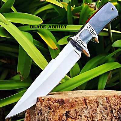 "10.25"" Wood Hunting Survival Skinning Fixed Blade Knife Full Tang Army Bowie"