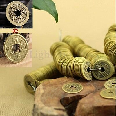20x Brass Chinese Feng Shui Lucky Bless Fortune Coin Oriental Emperor Money