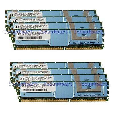 32GB Micron 8x4GB PC2-5300F DDR2-667MHZ ECC Fully Buffered FB-DIMM Memory Ram