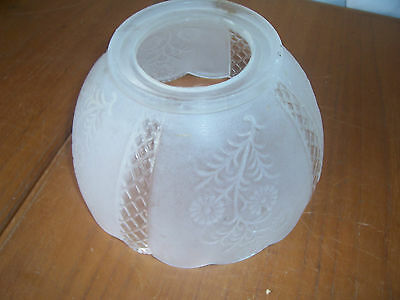 A Vintage Clear Frosted Ornate Pressed Pattern Light Shade fitting