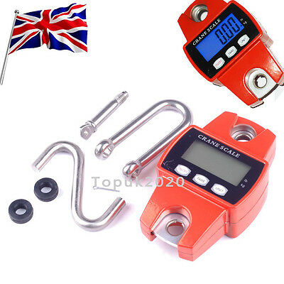 New 300kg/600lb Heavy Duty Digital Crane Scale Weighing Luggage With Mini Hook