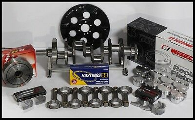 "Sbc Chevy 406 Assembly Scat Crank 6"" Rods Wiseco Flat Top 4.155 Pistons 400Mj"
