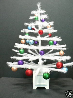 White Feather Tabletop Christmas Tree Without Ornaments