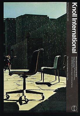1970 Knoll Furniture William Stephens Design Chairs Photo Vintage Print Ad