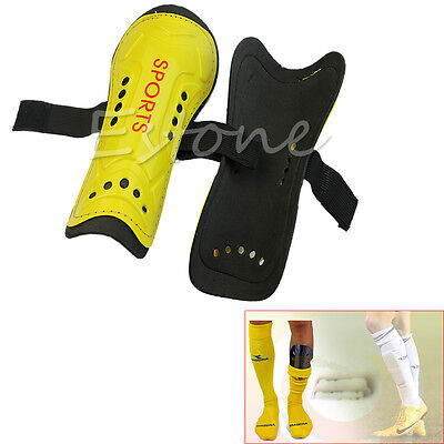 Novelty Light Soft Football Shin Pads Guards Sports Leg Protector Kids Adult