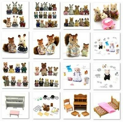 Toys Sylvanian Families Figures Dolls House Furniture Bear Rabbit Dog Squirrel
