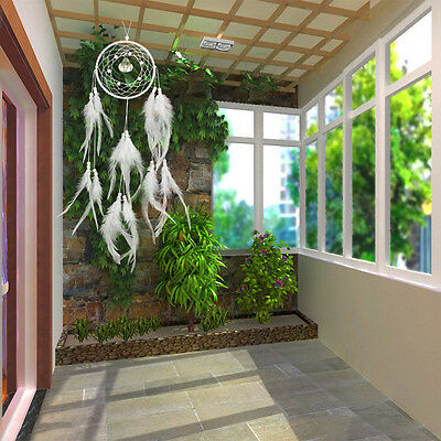 Large Dream Catcher With Feathers Wall Hanging Decoration Handmade Bead Ornament