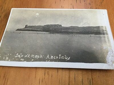 Old postcard Aberlady (wear)