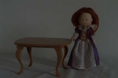 """Madeline 8"""" Doll Dollhouse Kitchen Table"""