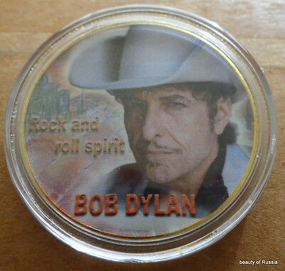 Bob Dylan     POP & ROCK SPIRIT  MUSIC 24K GOLD  PLATED MEMORABILIA COIN  #4