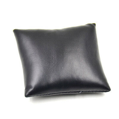 Synthetic Leather Black Watch Bracelet Display Pillow Cushions Holder Organizer