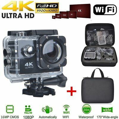 WiFi Ultra 1080P 4K 16MP Wasserdicht Sport ActionCam Kamera DV Camcorder