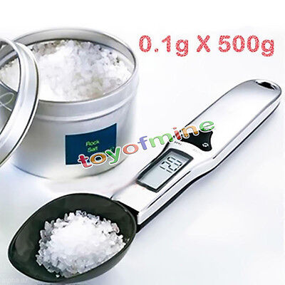 500g/0.1g Digital Kitchen & Lab Gram Electronic Measure Food Spoon Weight Scale