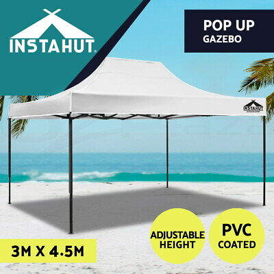 3x3M Outdoor Gazebo Pop Up Folding Marquee Party Tent Canopy Beach BBQ Blue